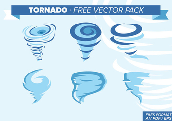 Tornado Illustrations Free Vector Pack - Free vector #331091