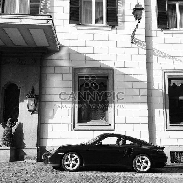 Porsche car near house - Free image #331291