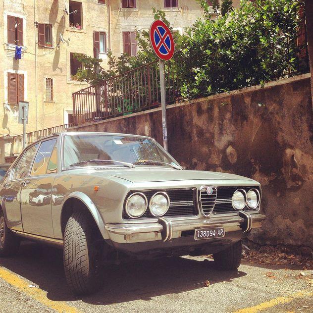 Grey retro car - Free image #331351