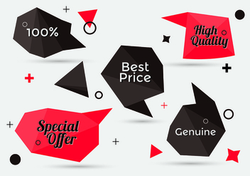 Free Collection of Sale Discount Styled Banners - vector gratuit(e) #331581