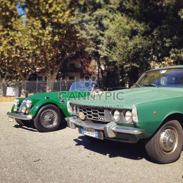 Retro green cars - Free image #331611