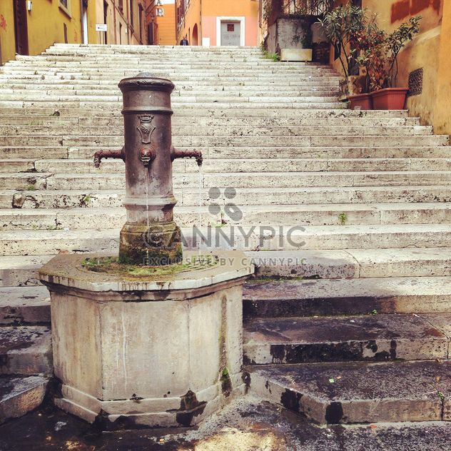 Old fountain and stairs in the city of Rome, Italy - Free image #331801