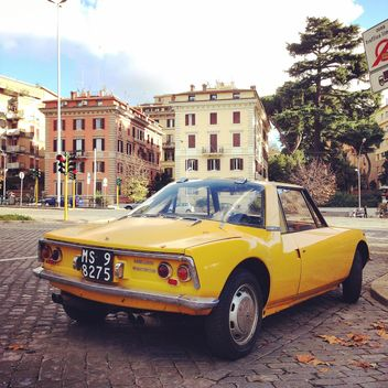 Yellow Matra Sports car in the street - image gratuit #331821