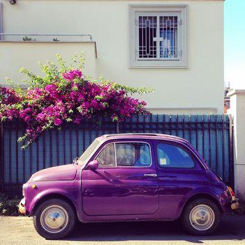 Violet Fiat 500 car - Free image #331861