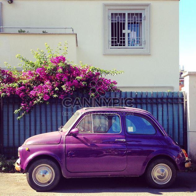 Violet Fiat 500 car - image gratuit #331861