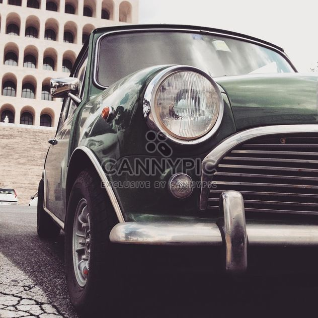 Close-up of headlight of Mini cooper - Free image #331911