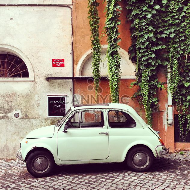 White Fiat 500 near old building - Free image #331921