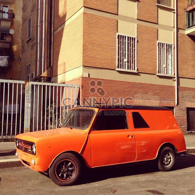 Old orange car - Free image #332271