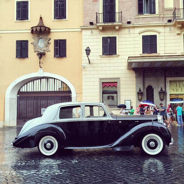 Retro Bentley car in street - Free image #332391