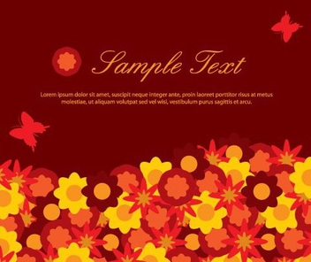 Red Funky Flowery Background - vector gratuit #332421