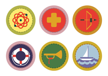 Boy Scout Badge Vector - Free vector #332611