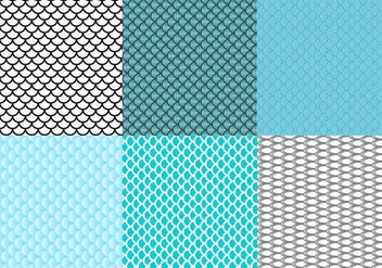 Free Fish Scale Pattern Vector - Free vector #333011