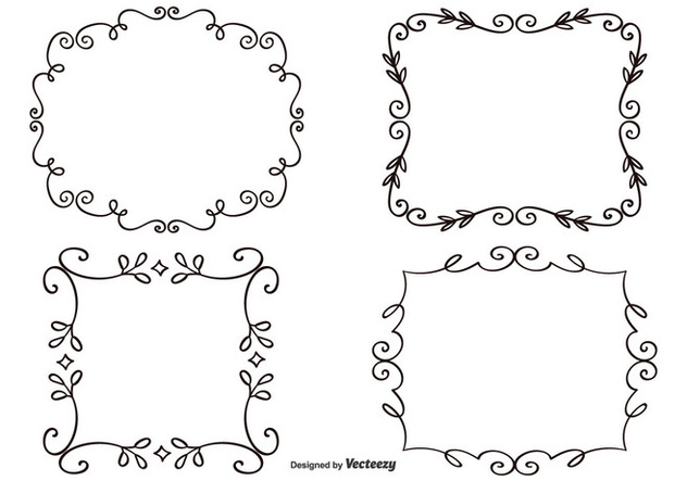 Decorative Frame Set - vector #333021 gratis