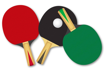 Free Rackets For Table Tennis Vector - Kostenloses vector #333421