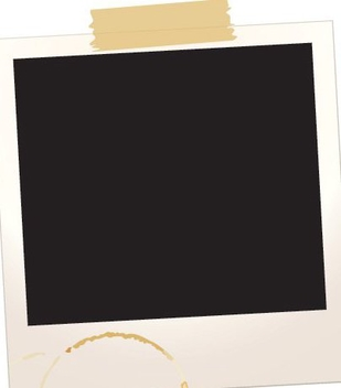 Polaroid Frame with Scotch Tape - Free vector #333521