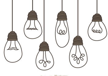 Hanging Light Bulbs - vector gratuit #333831