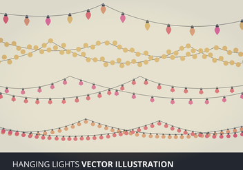 Hanging Lights Vector Elements - бесплатный vector #333961
