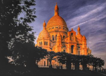 Sacred coeur cathedral church Montmartre Paris - Kostenloses image #334221