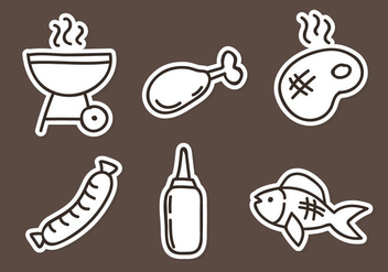 Grill Element Icons - vector #334381 gratis
