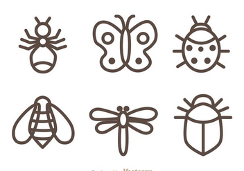 Insect Isolated Icons - vector gratuit #334431