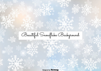 Beautiful Snowflake Background - Free vector #334451