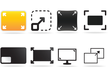 Free Full Screen Icon Vector - Free vector #334611