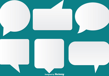 Speech Bubble Set - Kostenloses vector #334891