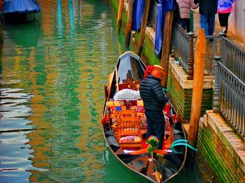 Boats on Venice channel - image #334981 gratis