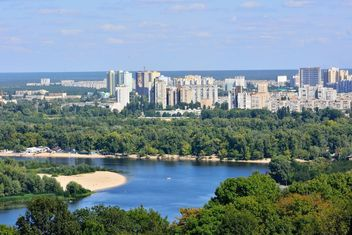 The views of the Dnipro and left shore of Kiev - Kostenloses image #335071