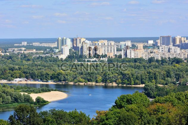 The views of the Dnipro and left shore of Kiev - бесплатный image #335071