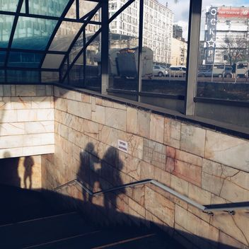 Shadows on a wall in kiev metro station - image gratuit #335111