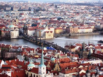 Prague from height in winter - image gratuit #335131