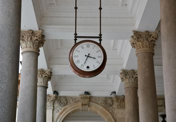 Clock in colonnade - Free image #335281