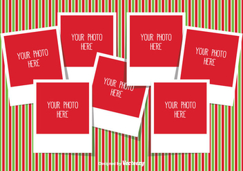 Christmas Photo Collage Template - vector gratuit #335351