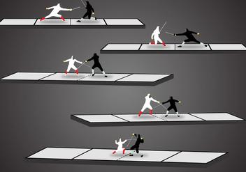 Fencing Scene Vectors - Free vector #335391