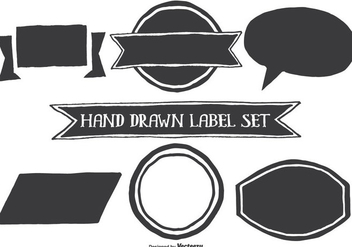 Hand Drawn Style Label Shapes - vector #335411 gratis