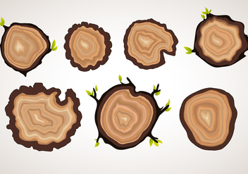 Vector Tree Ring Objects - vector gratuit #335511