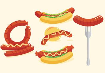 Bratwurst Vectors - vector #335561 gratis