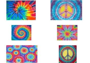 Tie Dye Vectors - Free vector #335601