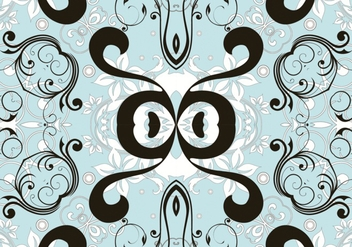 Blue Seamless Floral Pattern - Free vector #335811