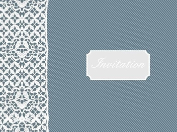 Retro Invitation with Lace Decoration - vector #335921 gratis