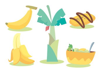 Banana Vector Set - vector gratuit #336101