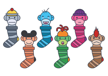 Sock Monkey Vector - Free vector #336111