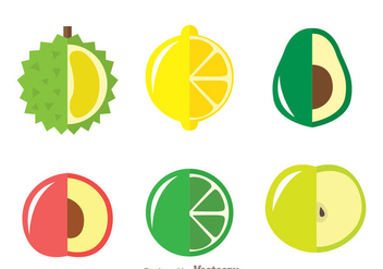 Fresh Fruits Icons - vector gratuit #336141