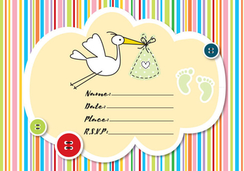 Baby Shower Invitation - бесплатный vector #336151