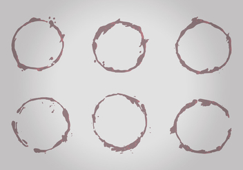Free Wine Stains Vector Pack - Free vector #336241