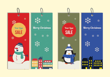Christmas Tags - vector gratuit #336271