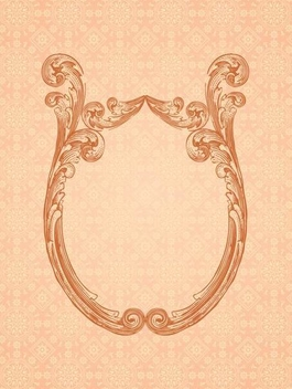 Ornamental Mirror Frame Retro Background - Free vector #336351