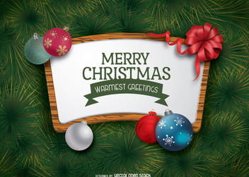 Christmas sign - Free vector #336381