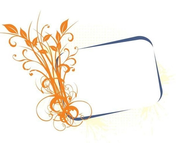 Growing Floral Plants Banner Frame - Free vector #336471
